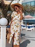 Женское летнее нежное платье из шелка, фото 2