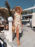 Женское летнее нежное платье из шелка, фото 3