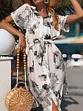 Женское летнее нежное платье из шелка в принт, фото 2