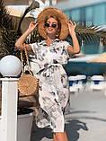 Женское летнее нежное платье из шелка в принт, фото 3