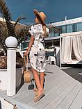 Женское летнее нежное платье из шелка в принт, фото 4