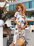 Женское летнее нежное платье из шелка в принт, фото 5