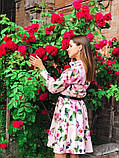 Женское повседневное нежное платье из коттона в принт, фото 2