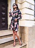 Женское повседневное нежное платье из коттона в принт, фото 5