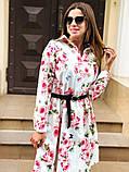 Женское повседневное нежное платье из коттона в принт, фото 6