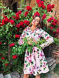 Женское повседневное нежное платье из коттона в принт, фото 7