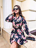 Женское повседневное нежное платье из коттона в принт, фото 8