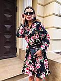 Женское повседневное нежное платье из коттона в принт, фото 9