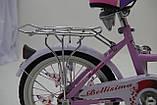 """Городской Детский Велосипед Для девочки с корзинкой 16 """"BELLISIMA""""  Алюминиевый Розовый, фото 5"""