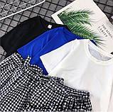 Женский костюм футболка с шортами  с поясом, фото 4