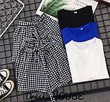 Женский костюм футболка с шортами  с поясом, фото 6