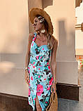 Женское летнее яркое платье Цветы, фото 2