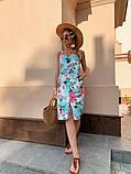Женское летнее яркое платье Цветы, фото 3