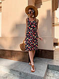 Женское летнее яркое платье Цветы, фото 5
