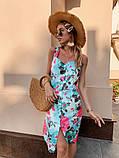 Женское летнее яркое платье Цветы, фото 6