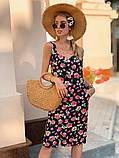Женское летнее яркое платье Цветы, фото 7