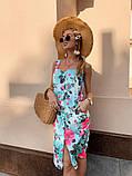 Женское летнее яркое платье Цветы, фото 8