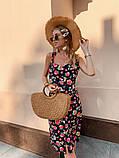 Женское летнее яркое платье Цветы, фото 9