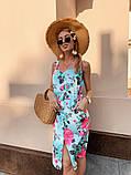 Женское летнее яркое платье Цветы, фото 10