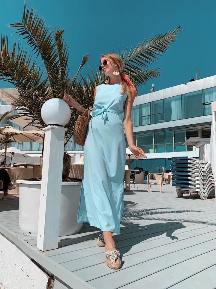 Женское летнее яркое платье миди