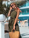 Женское летнее яркое платье миди, фото 2