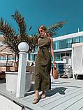 Женское летнее яркое платье миди, фото 4