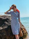 Женское летнее яркое платье в полоску, фото 3