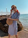 Женское летнее яркое платье в полоску, фото 5