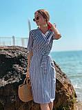 Женское летнее яркое платье в полоску, фото 6