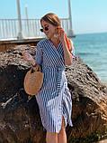 Женское летнее яркое платье в полоску, фото 7