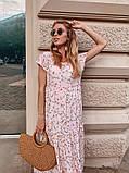 Женское летнее яркое платье в цветочек, фото 2