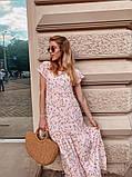Женское летнее яркое платье в цветочек, фото 3