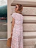Женское летнее яркое платье в цветочек, фото 5