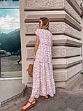 Женское летнее яркое платье в цветочек, фото 7