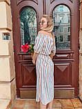 Женское летнее нежное платье в полоску, фото 2