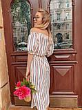 Женское летнее нежное платье в полоску, фото 3