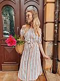 Женское летнее нежное платье в полоску, фото 6