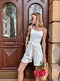 Женский костюм жакет с шортами  из льна, фото 2