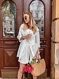 Женский костюм жакет с шортами  из льна, фото 3