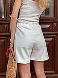 Женский костюм жакет с шортами  из льна, фото 5