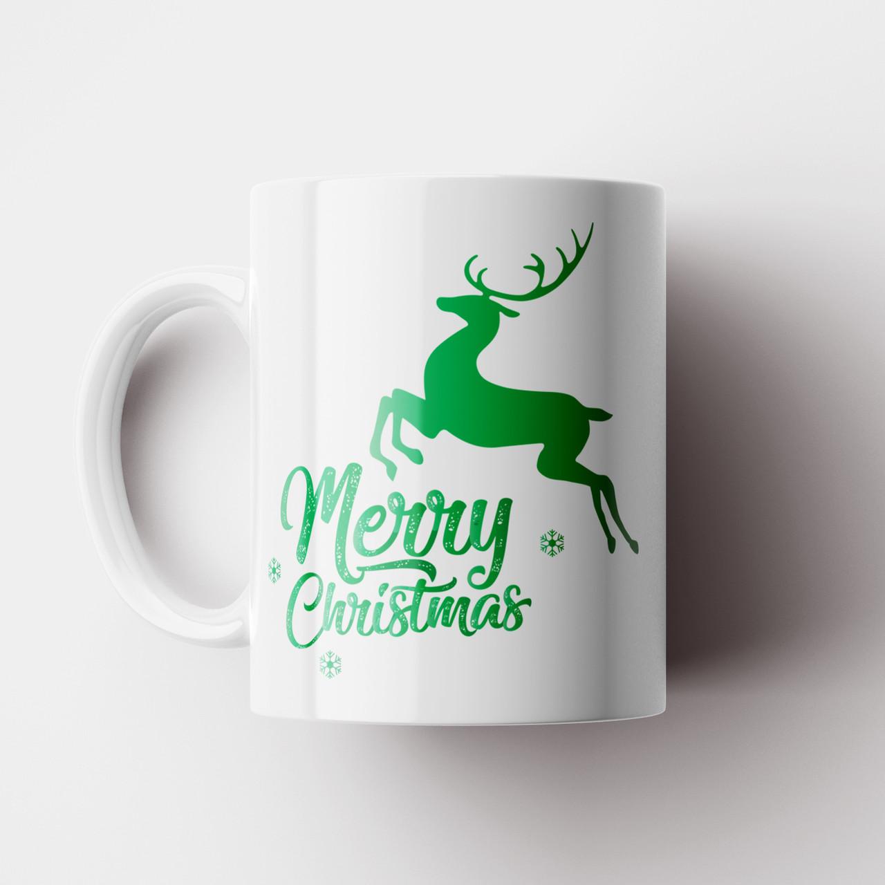 Кружка Олень Merry Christmas. Новогодняя чашка №18. Новый Год
