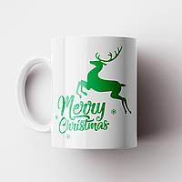 Кружка Олень Merry Christmas. Новогодняя чашка №18. Новый Год, фото 1