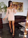 Платье из прошвы с кружевной отделкой, фото 2