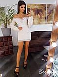 Платье из прошвы с кружевной отделкой, фото 4