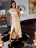 Шелковое платье с ассиметричной юбкой, фото 4