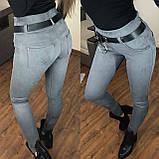 Женские лосины плотный замш, прострочки сзади на кармашках, фото 5