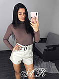 Женские стильные шортики из эко кожи, фото 7