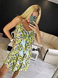 Женское платье летнее в цветочный принт с рюшами, фото 2