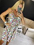 Женское платье летнее в цветочный принт с рюшами, фото 3