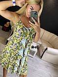 Женское платье летнее в цветочный принт с рюшами, фото 4